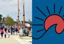 Bulwary wiślane i logotyp nowego miejsca