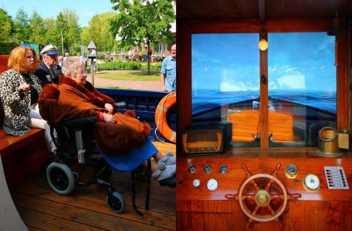Widok łodzi z dwóch różnych perspektyw