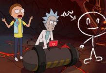 Dwie postacie z kreskówki Rick i Morty