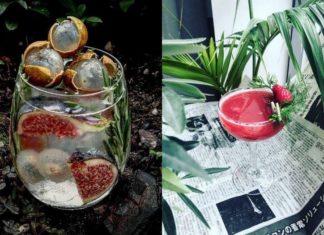 Zdjęcia dwóch drinków - w szklance i kieliszku