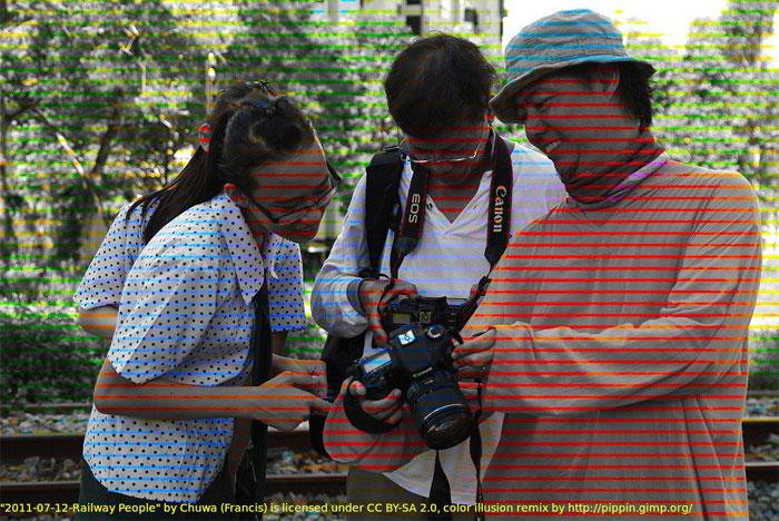 Ludzie oglądający zdjęcia na aparacie