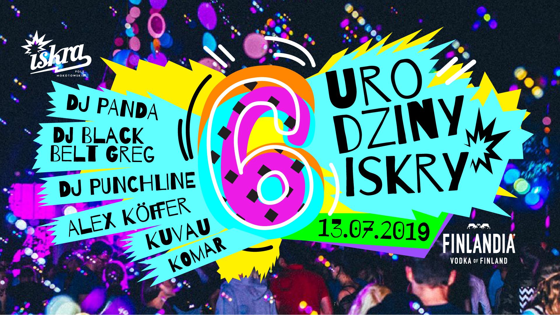 Plakat promujący 6 urodziny klubu Iskra