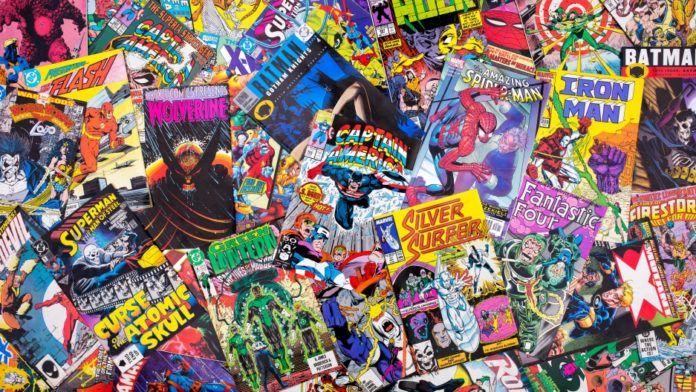 Komiksy porozrzucane po podłodze