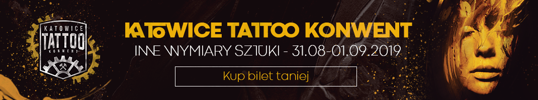 Baner promujący Katowice Tattoo Konwent