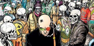 Postacie komiksowe stojące razem