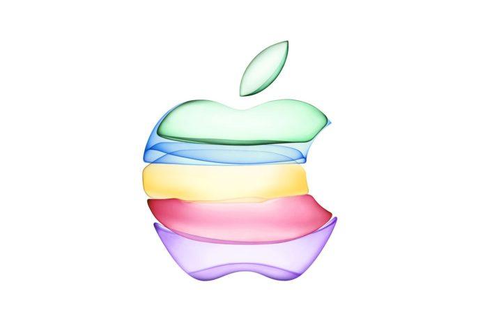 Wielokolorowe logo Apple