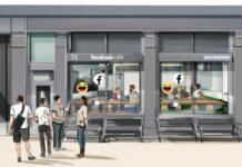 Wizualizacja przedstawiająca kawiarnię