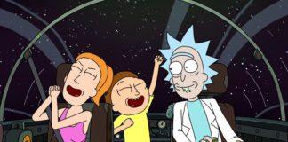 Trzy postacie z kreskówki w statku kosmicznym