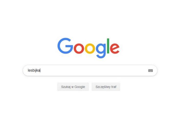 zrzut ekranu z wyszukiwarki Google