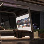 Łóżko z wbudowanym ekranem