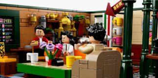 Scena z serialu Przyjaciele odtworzona klockami LEGO