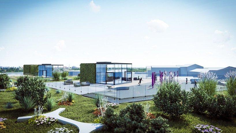 Projekt ogrodu na dachu ekologicznego dworca