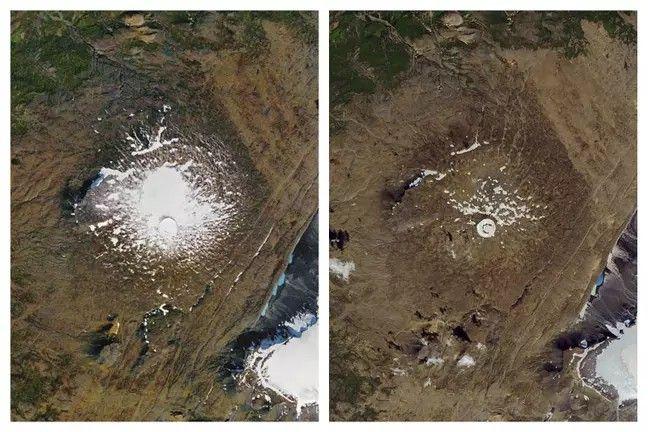 Satelitarny widok na lodowiec