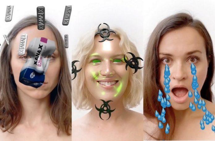 Zdjęcia trzech dziewczyn z nałożonymi fitrami