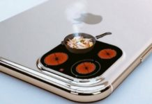 Zdjęcie telefonu z przerobionym aparatem na kuchenkę