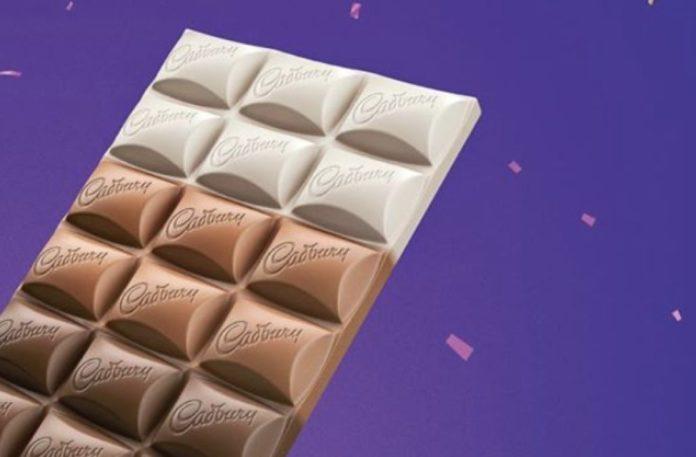 Wielokolorowa tabliczka czekolady