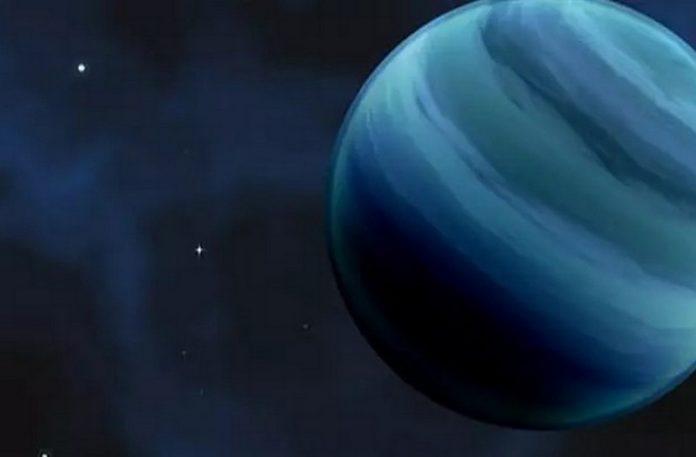 Wizualizacja przedstawiająca nową planetę