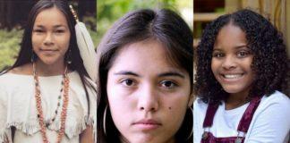 Zdjęcia trzech młodych dziewczynek
