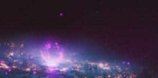 Widok z satelity na fioletowe bąbelki