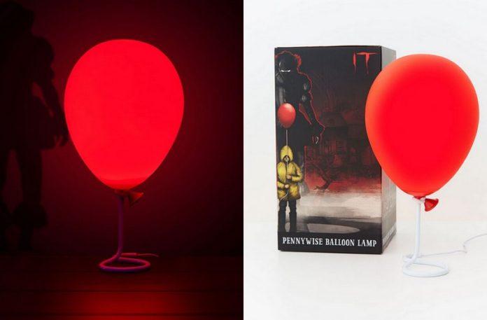 Lampka w kształcie czerwonego balona