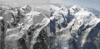 Dwa zdjęcia lodowca