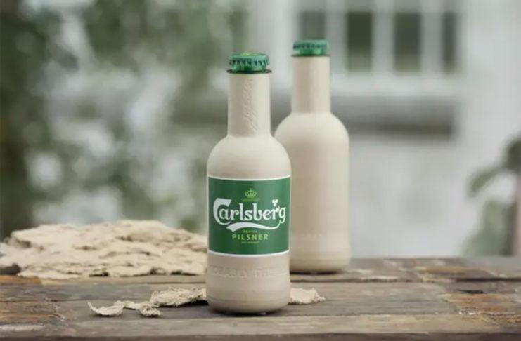 Piwo w papierrowej butelce