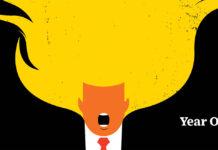 Ilustracja przedstawia pomarańczowego, krzyczącego mężczyznę, który zamiast włosów ma płomienie