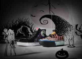 Dwa różne buty na bajkowym tle z Disneya