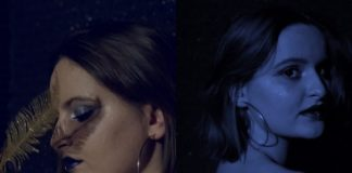 Dwa zdjęcia przedstawiające dziewczynę z krótkimi włosami