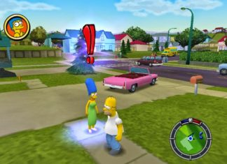 Kadr z gry The Simpsons Hit and Run