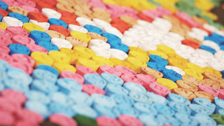 Różnokolorowe tabletki