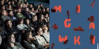Ludzie na sali kinowej i plakat Cinemaforum 2019