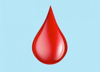 Emoji przedsdtawiające kroplę krwi