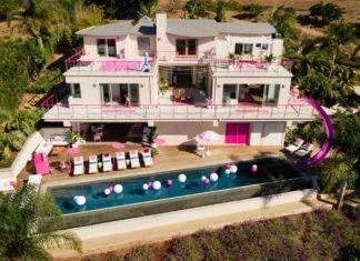 Biało-różowy dom