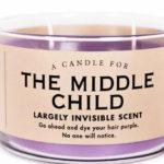 Fioletowa świeczka w szkle