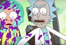 Dwie postaci z animowanego serialu Rick i Morty