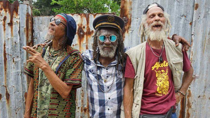 Trzech starszych mężczyzn z dredami