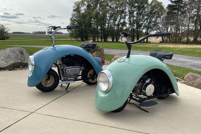 Dwa mini-motocykle