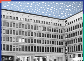 Rysunek przedstawiający budynek