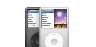 iPod classic w kolorze czarnym i białym