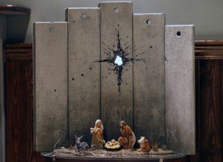 Szopka bożonarodzeniowa od Banksye'go