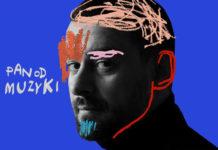 Okładka płyty grafika twarz na niebieskim tle
