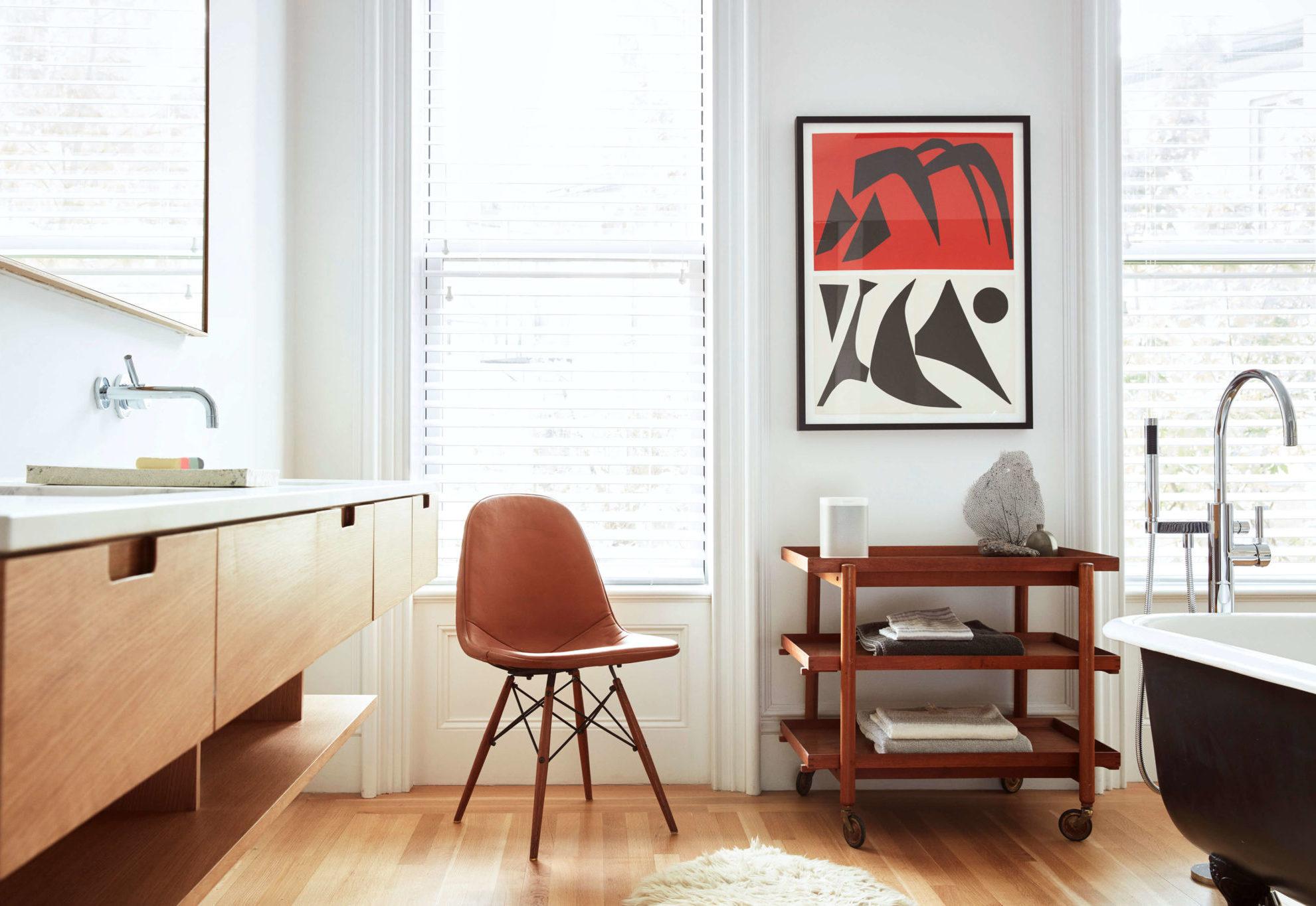 pokój krzesło okno obraz głośnik Sonos