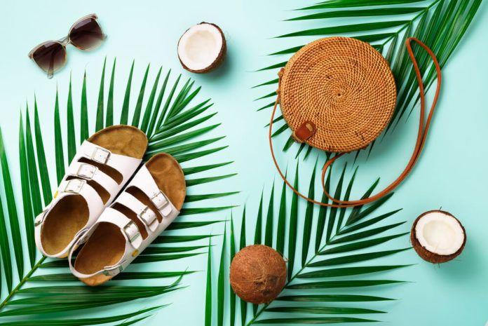 Klapki liście palmy kokos