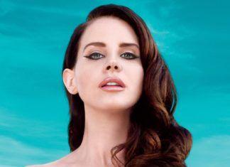 Piosenkarka Lana Del Rey na tle nieba