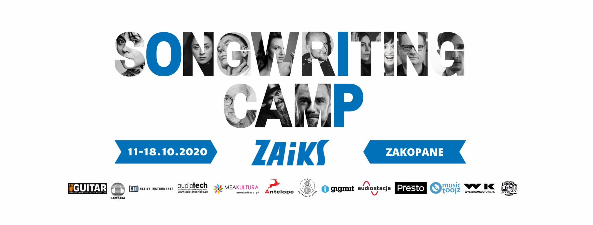 plakat warsztatów z gwiazdami polskiej muzyki