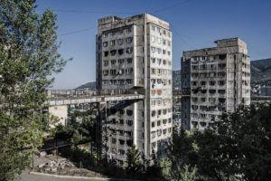 Mieszkaniowe osiedle w Tbilisi