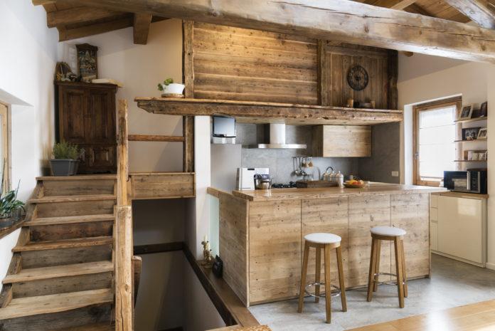 drewniana kuchnia