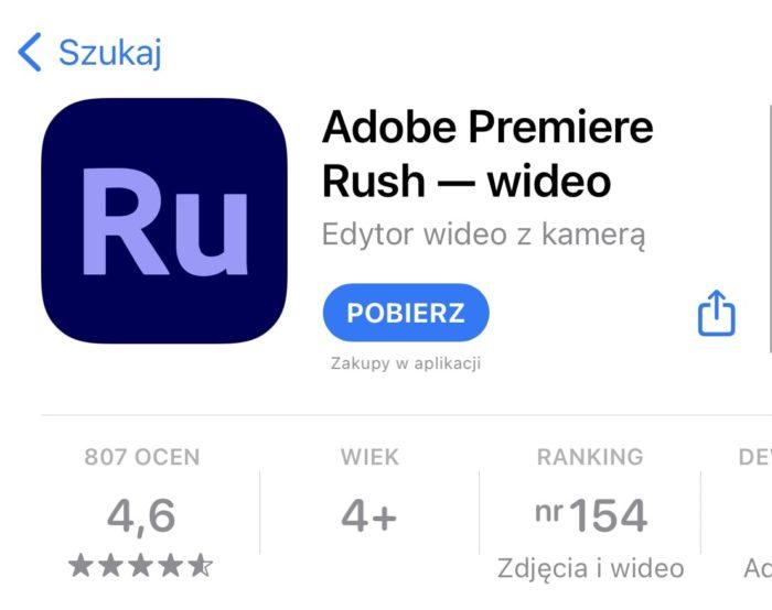 Adobe Rush app