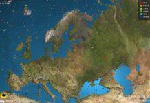 Satelity online nad Europą